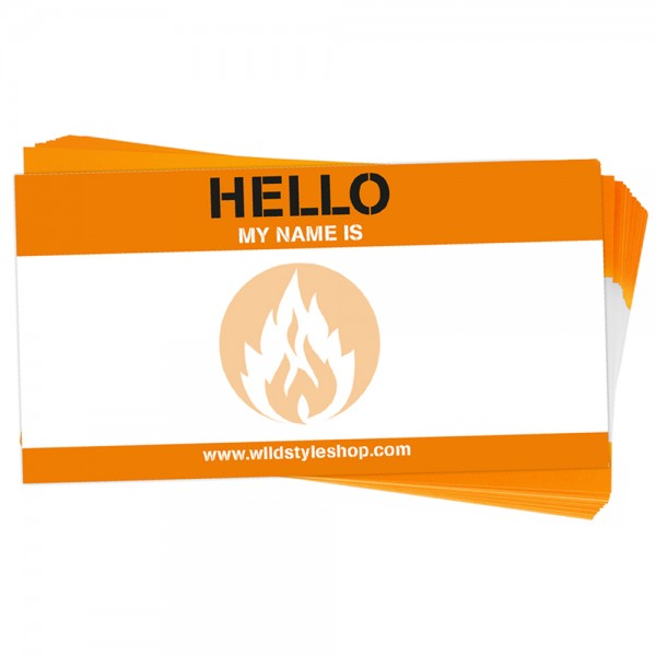 """100 Sticker """"Hello my name is"""""""