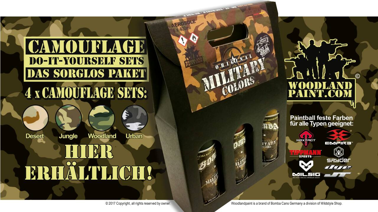 DIY Tutorial I Camouflage Lackierung mit Bomba Military Colors