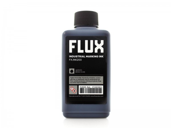 Flux Refill Industrial Marking Ink FX.INK200 - 200ml Black